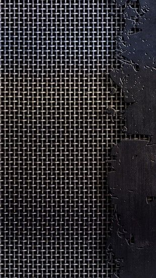 1440x2560 Wallpaper metal, mesh, cracks, scratches, black and white, texture