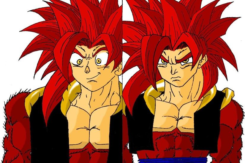 ... SSJ4 Gogeta- Happy-Angry by Sketcher6138