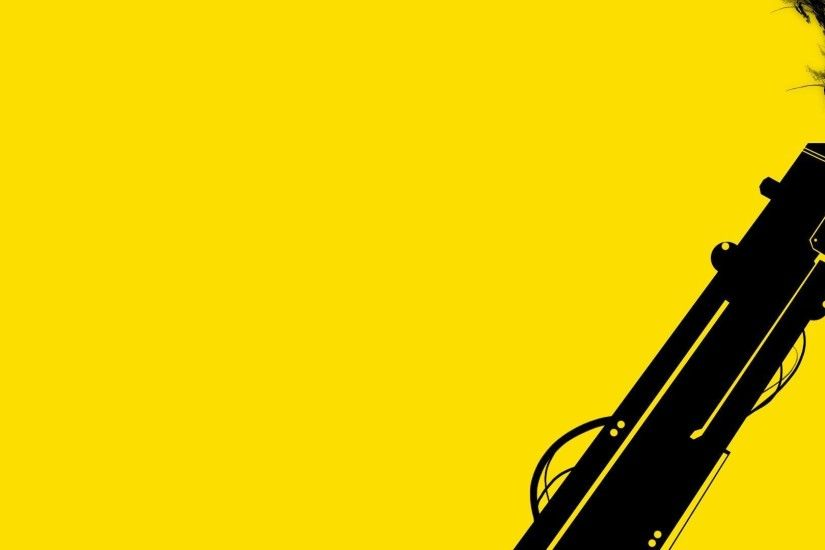 Black Gun On Yellow Background Wallpaper PC #5650 Wallpaper