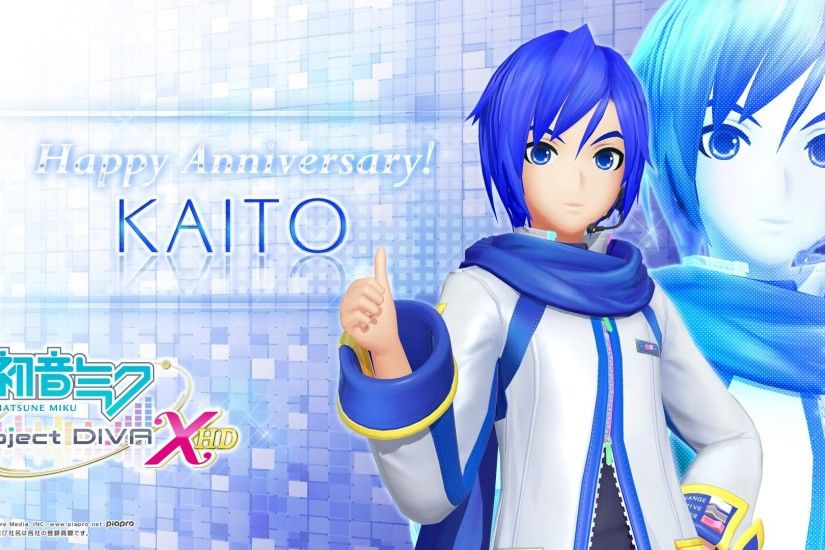 As always, SEGA celebrates Crypton VOCALOID birthdays with some sweet  wallpapers. There are two wallpapers available, both featuring KAITO V3  modules.