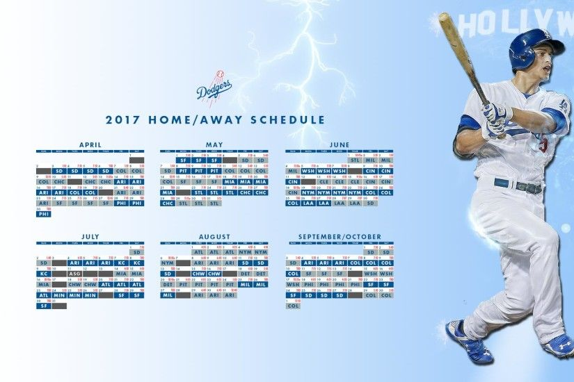 Made a 2017 schedule wallpaper featuring Corey Seager!