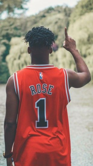 1440x2560 Wallpaper nba, rose, chicago bulls