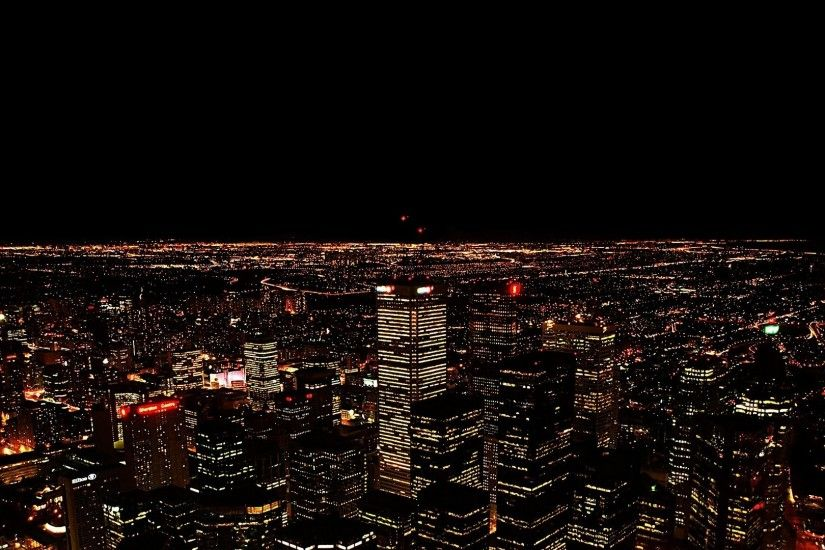 1920x1080 Wallpaper city, night, light, top view