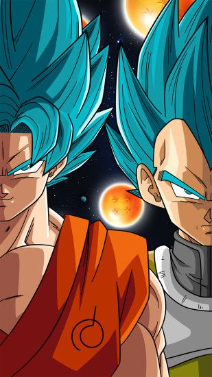 UPDATE I changed the Dragonball right between Goku and Vegeta into a  Dragonball. SSB Goku and Vegeta (Phone Wallpaper)