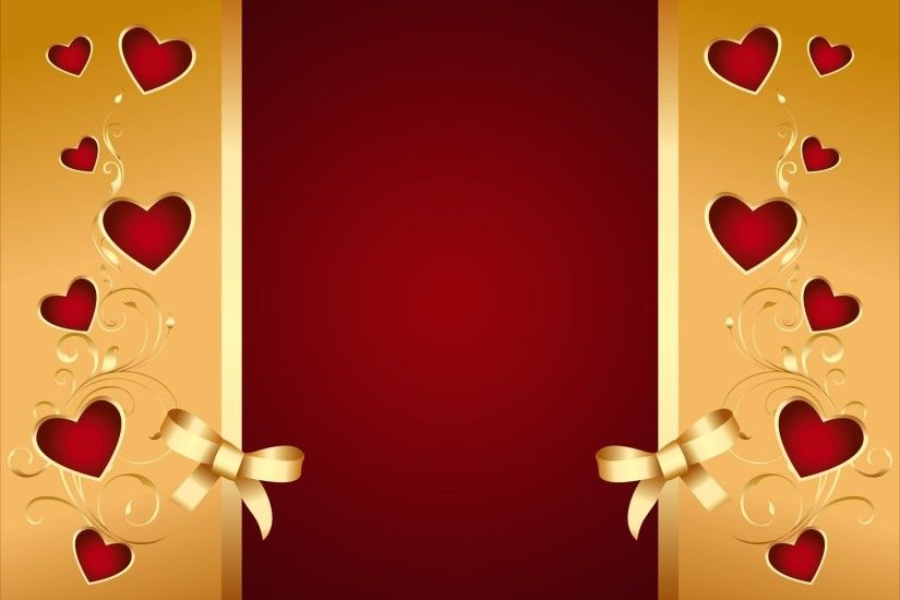 red golden hearts bow romantic love valentine background background heart