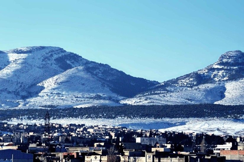 Landscapes North Houses Nature Town Landscape Algeria Forest Snow Aures  Buildings Tebessa Africa City Sky Winter Amazigh Wallpapers High Resolution