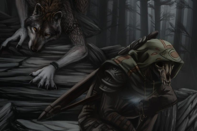 ... dark forest; Werewolf and Grim Reaper