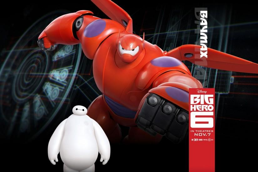 Baymax (Big Hero 6), Big Hero 6, Walt Disney, Disney, Animated Movies,  Movies Wallpaper HD