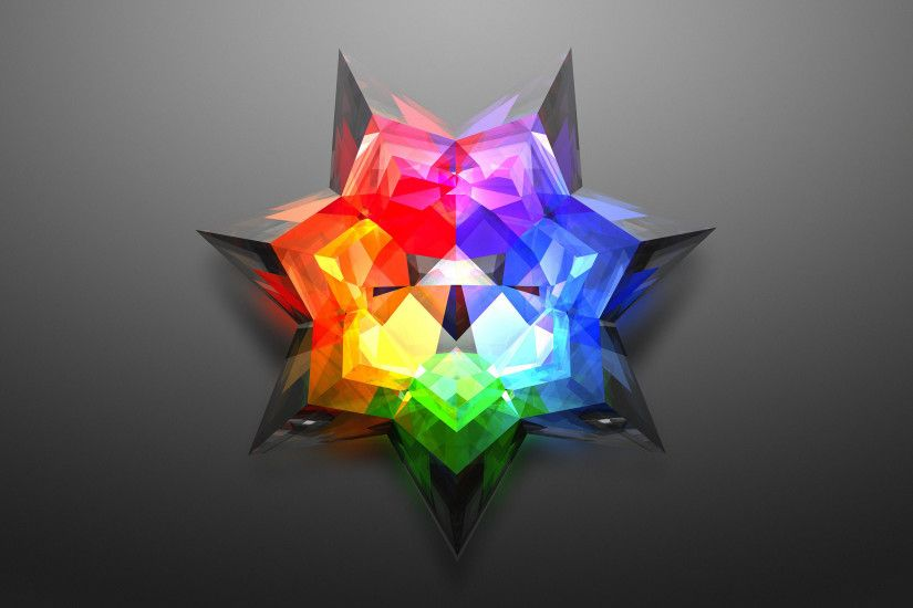 Rainbow star flower wallpaper