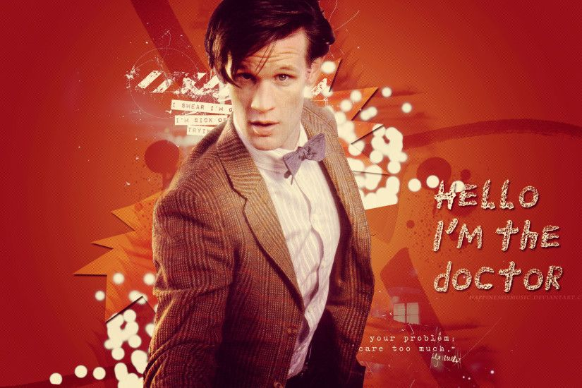 ... HappinessIsMusic The eleventh Doctor Wallpaper 2 by HappinessIsMusic