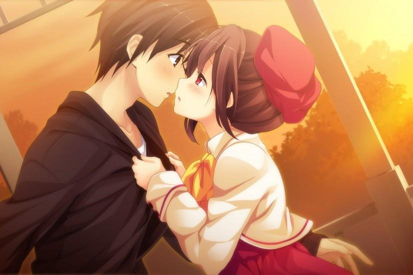 Anime Couple Kiss Wallpaper 892337