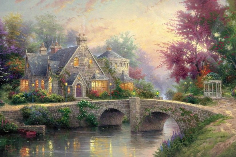 ... thomas kinkade christmas wallpapers wallpaper cave ...