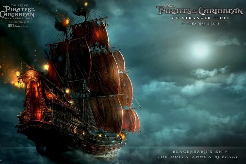 Blackbeard's Ship in Pirates Of The Caribbean 4 HD Wallpaper #2479