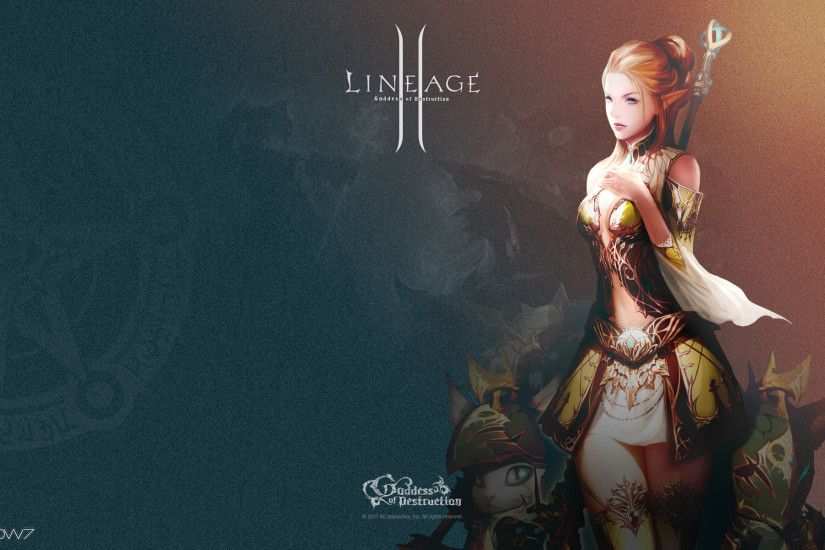 lineage 2 goddess of destruction lineage 2 summoner widescreen wallpaper