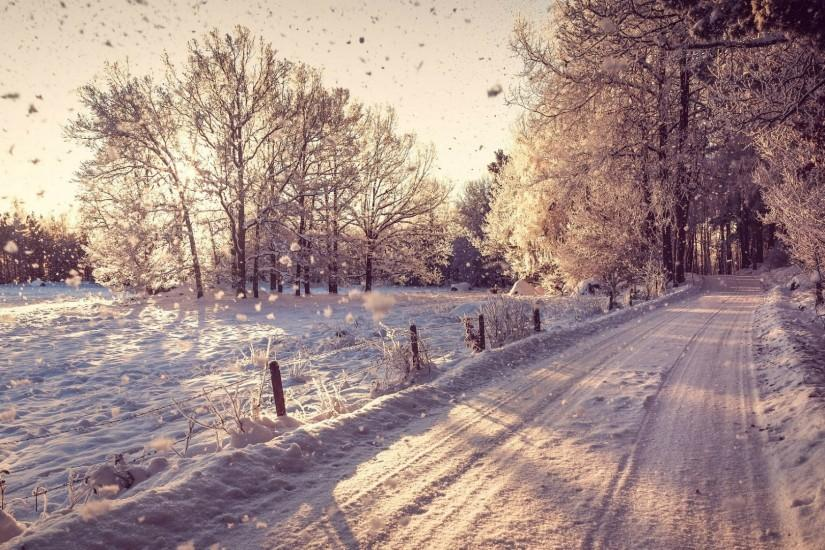 1920x1080 Country Road in the Winter desktop PC and Mac wallpaper