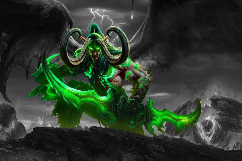Illidan Walpaper by SmokerSnake