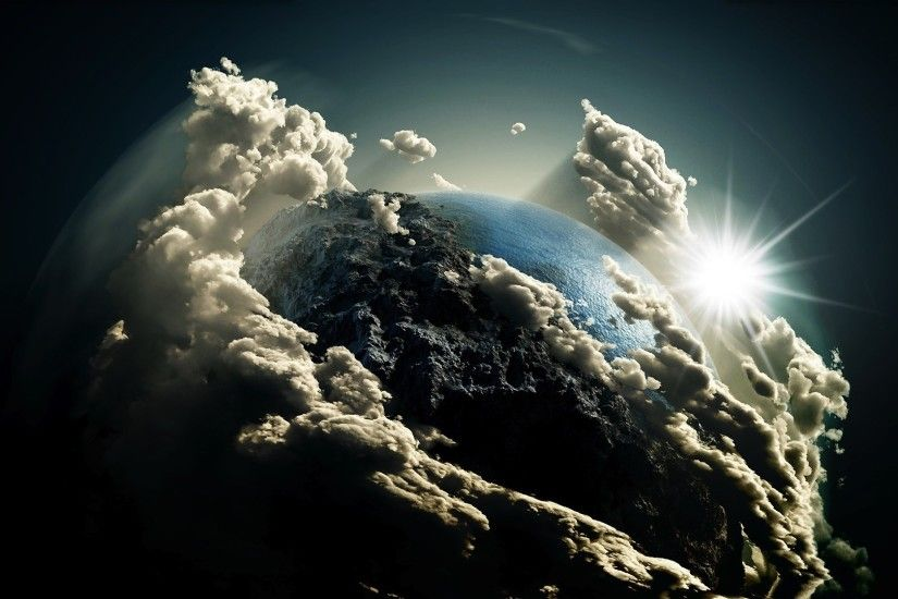 Earth Clouds Wallpaper