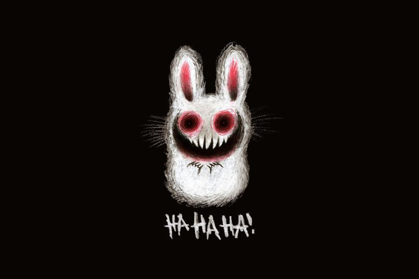 1920x1080 Creepy bunny wallpaper, cute adorable fluffy scary bunny rabbit .