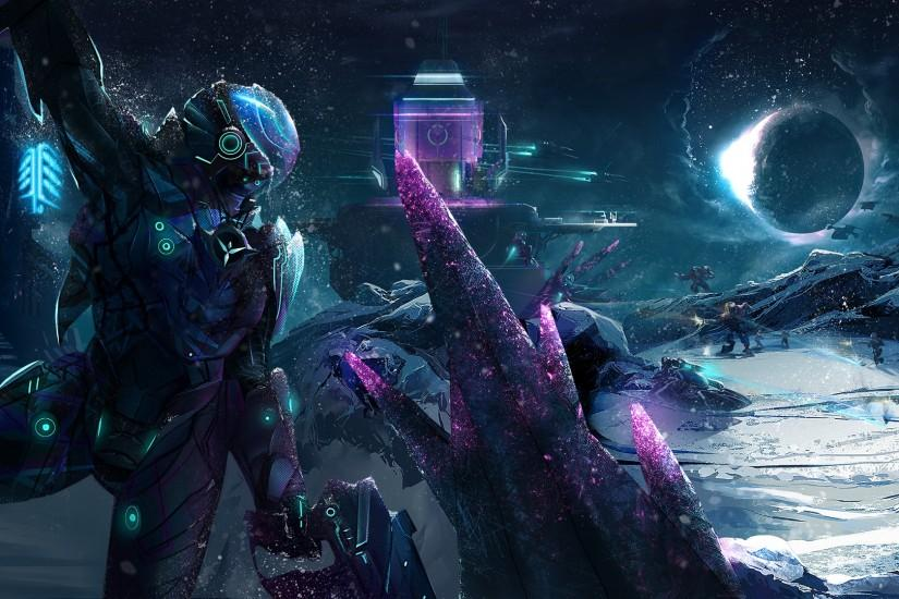futuristic, Battle, Space, Ice, Spaceship, Robot, Planetside 2, Vanu  Sovereignty Wallpaper HD