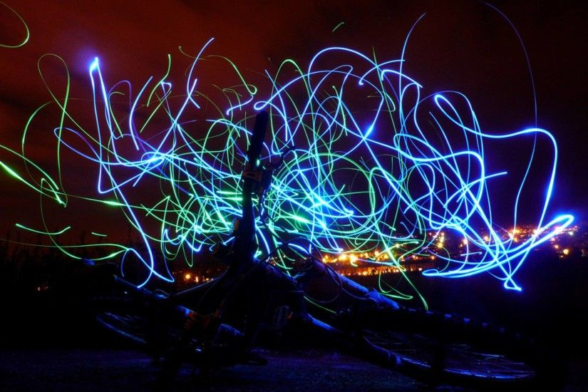 Lights Crazy Bicycle Abstract Wallpaper 1920x1440 | Hot HD Wallpaper