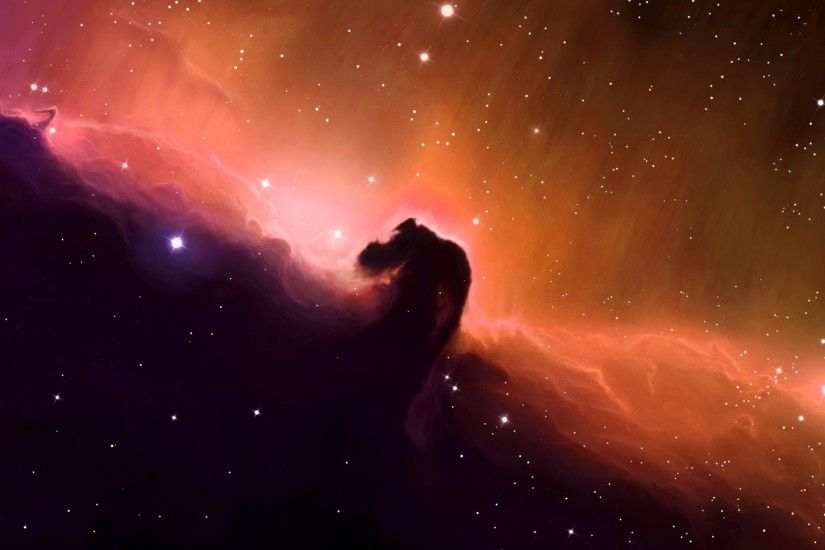 Description: Download Outer space stars shining horsehead nebula gas cloud  skyscapes wallpaper/desktop background in 2048x1152 HD & Widescreen  resolution.