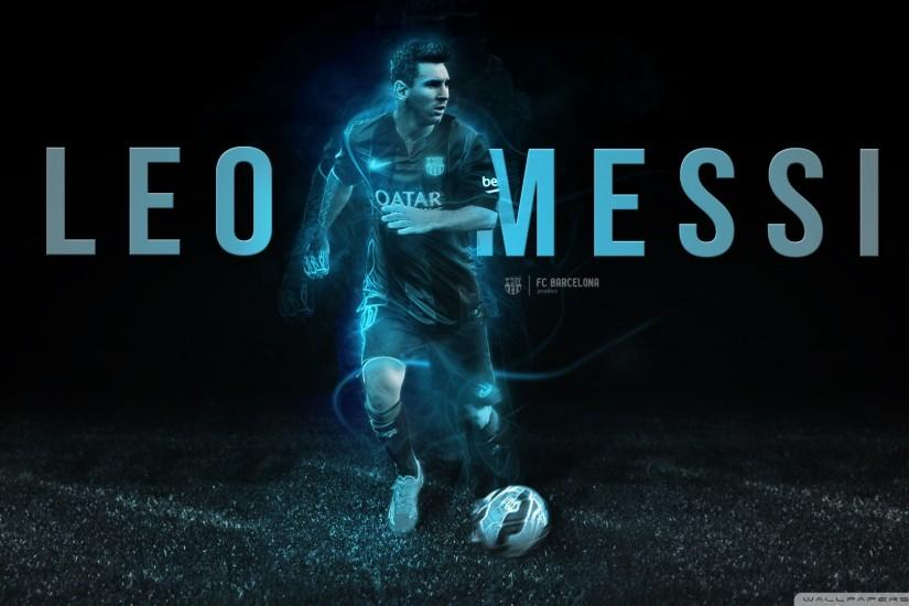 Leo Messi 2015 Black Wallpaper