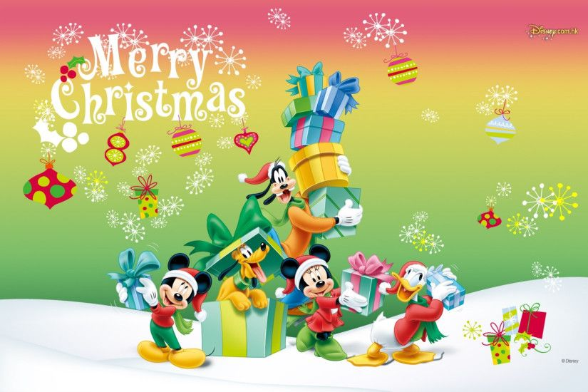 Mickey Mouse Christmas Wallpaper HD.