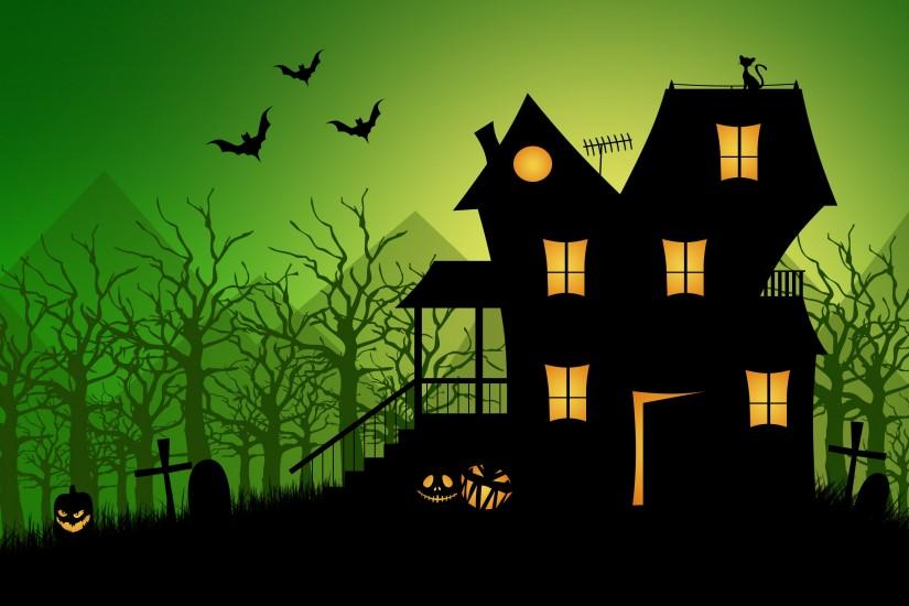 Haunted house wallpaper - 1009321