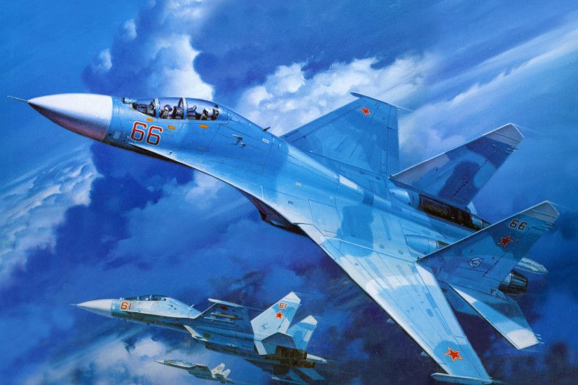 26 Sukhoi Su-27 HD Wallpapers | Backgrounds - Wallpaper Abyss ...