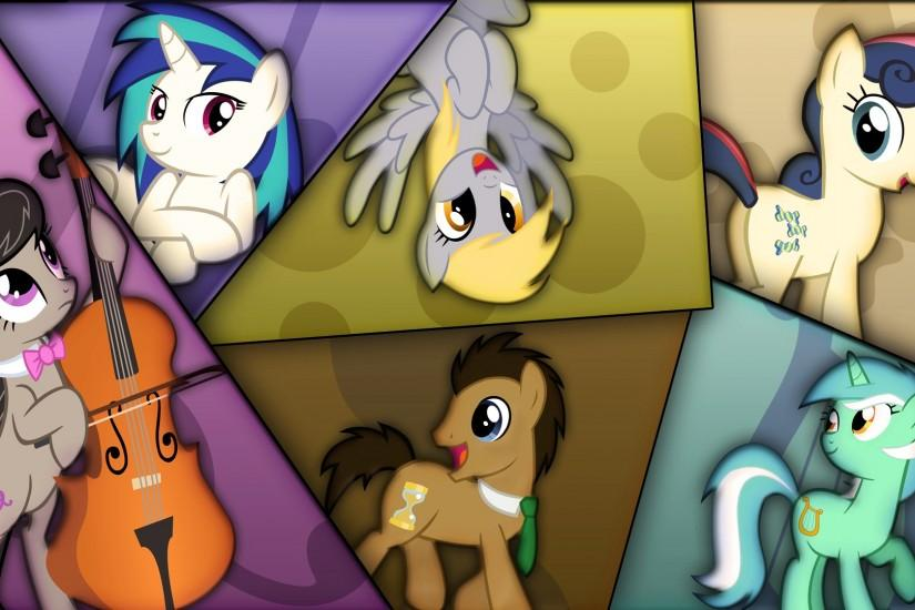 Background Ponies Wallpaper. My Mane Six!