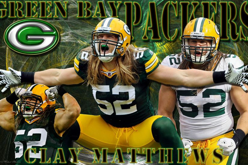4x3 Standard | 16x9 Widescreen | 16x10 Widescreen Clay Matthews Green Bay  Packers Wallpaper.
