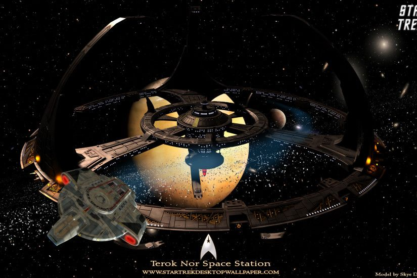 Star Trek Terok Nor Space Station - free Star Trek computer desktop  wallpaper, pictures