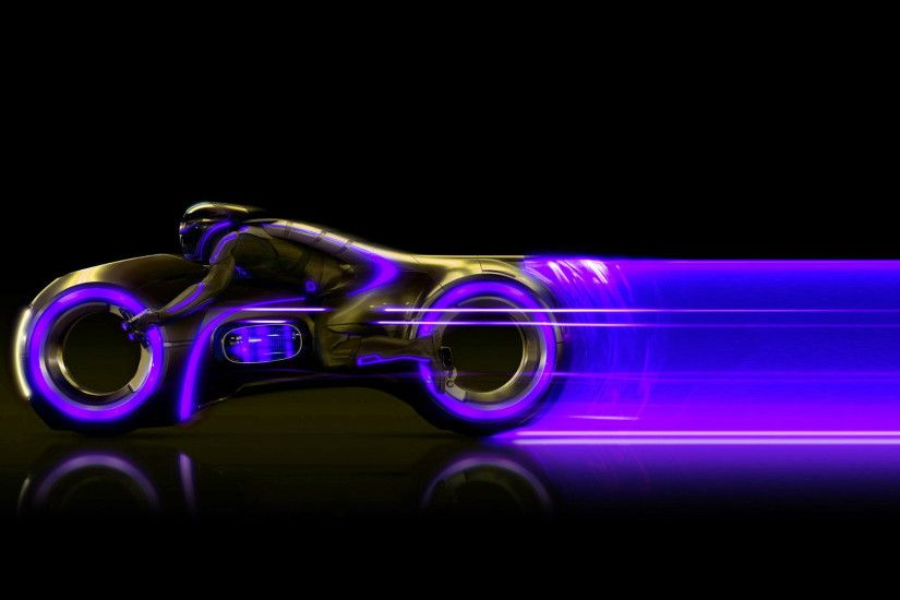 TronMotorcycle Tron Legacy Light Cycle and hot rod desktop 1920×1080