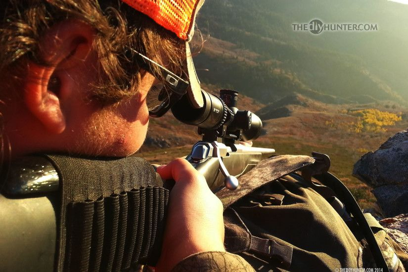 Dallen aiming at mule deer with X-Bolt ...