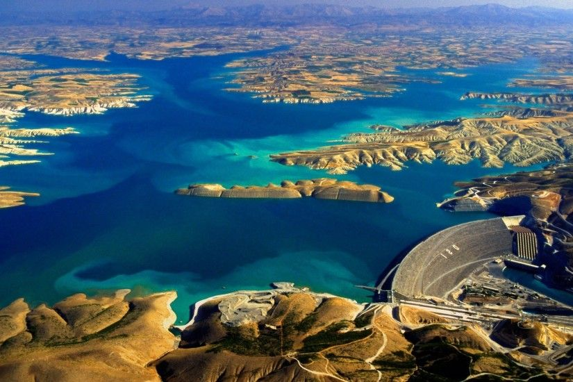 river, ataturk, free, fresh, dam, lake, nature, erial, of, blue, the,  turkey, view, euphrates, landscape on, view, the, dam, abstract hd wallpaper,aerial  ...