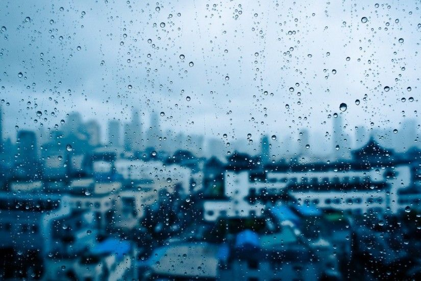 Water Drops Glass Window Panes Cities Rain New Nature Wallpapers For Mobile  Detail