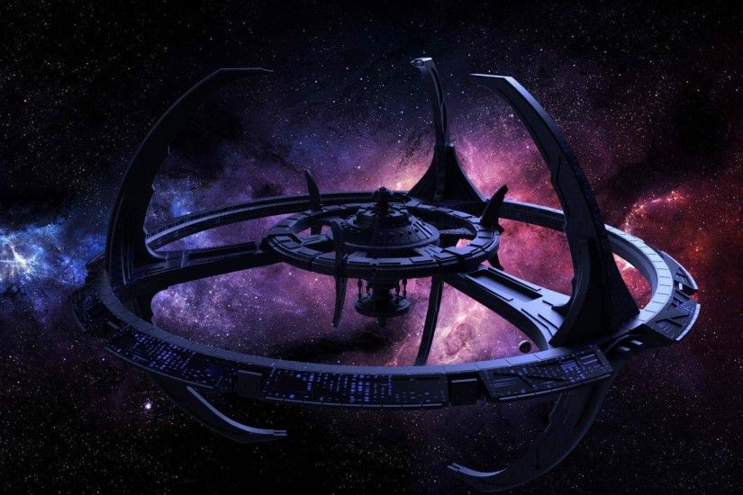 DEEP SPACE NINE Star Trek futuristic television sci-fi spaceship .