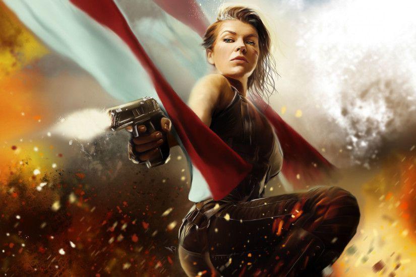 Milla Jovovich Resident Evil Wallpaper ·① WallpaperTag