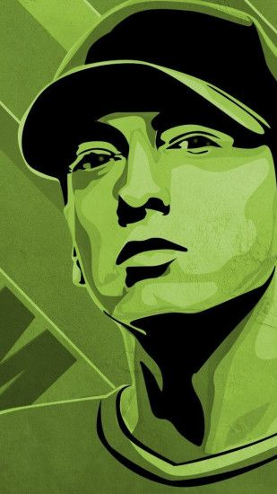 Preview wallpaper eminem, cap, look, letters, eyes 1440x2560