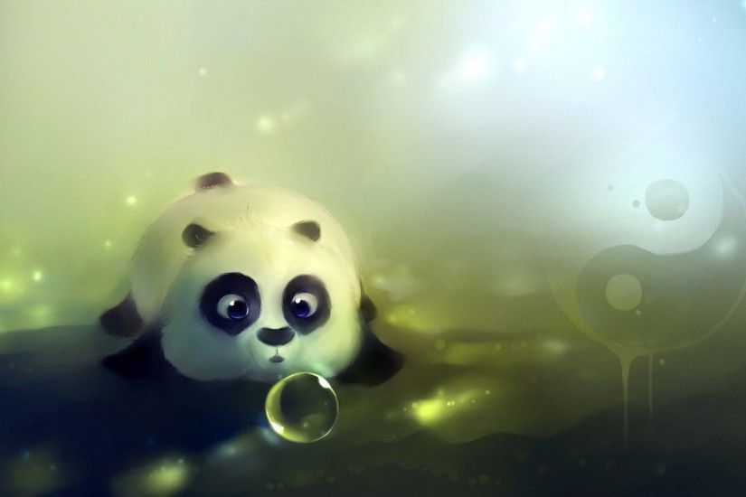 Wallpapers For > Panda Bear Cartoon Wallpaper