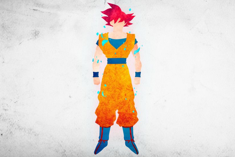 SSG Goku Minimalisitc Wallpaper by KhUnlimited