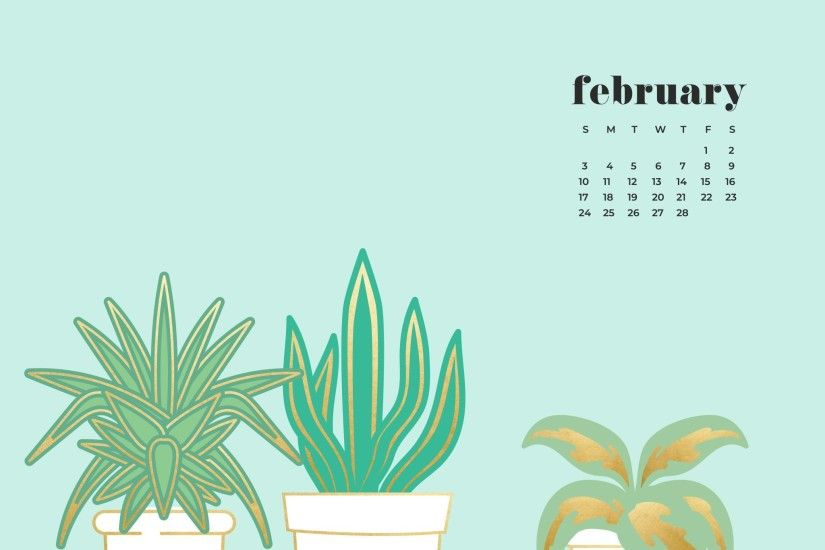 FREEBIES // FEBRUARY DESKTOP WALLPAPER CALENDARS