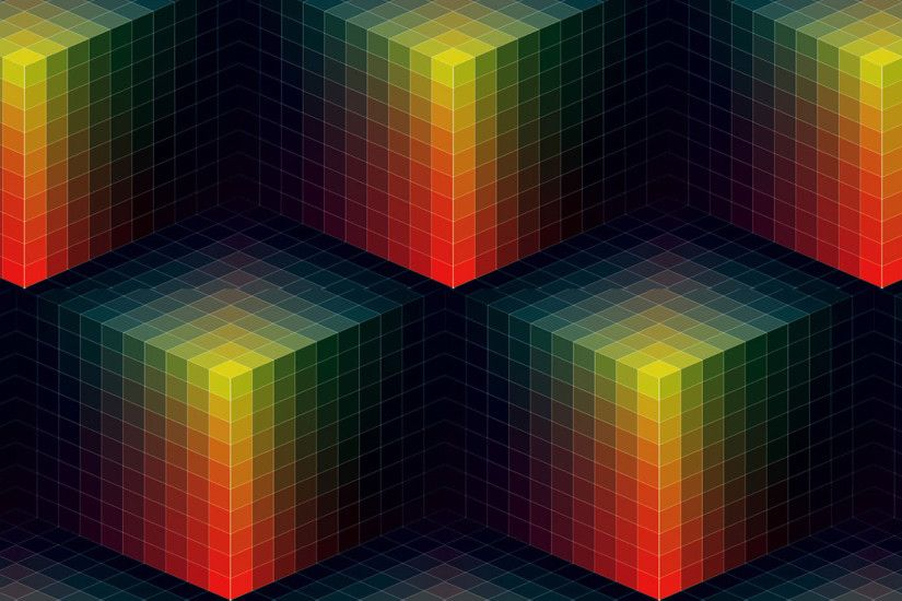 Colorful Cube Wallpaper 2047