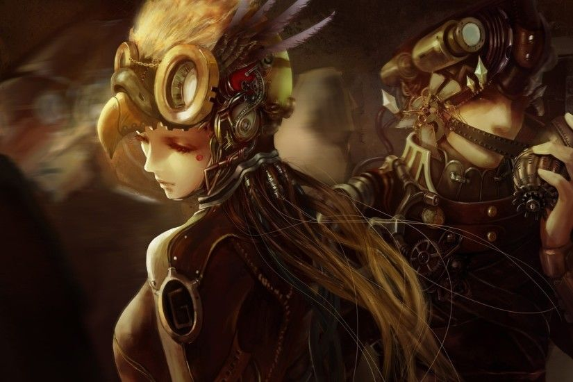 artwork, Fantasy Art, Concept Art, Women, Steampunk, Soldier Wallpapers HD  / Desktop and Mobile Backgrounds