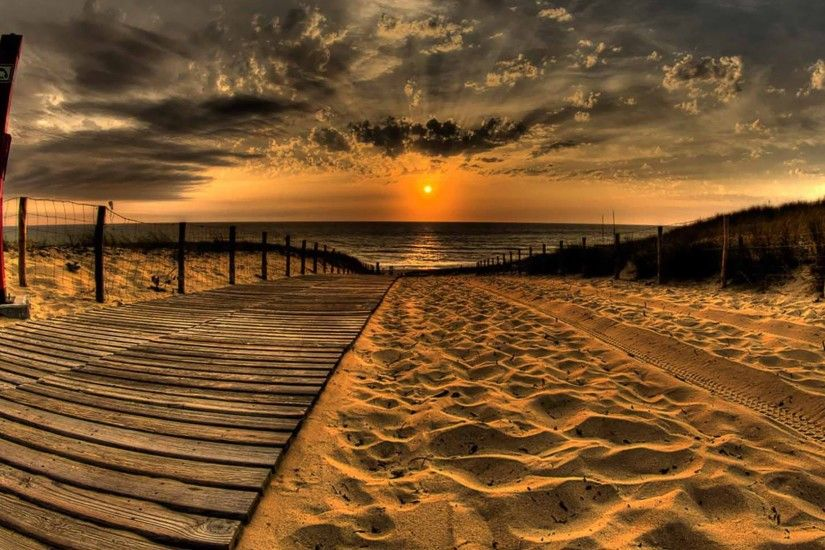 Beach sunset beach wallpaper