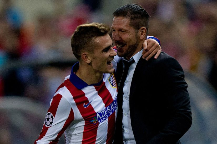 Antoine Griezmann With Diego Simeone Wallpaper Wallpaper
