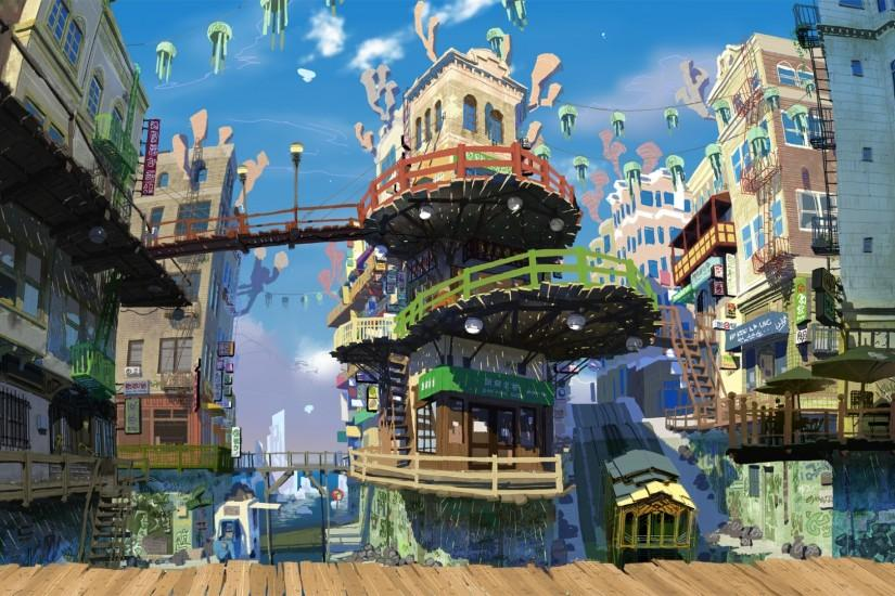 'Into the Pixel' exposes gorgeous gaming universe (pictures). Skullgirls Anime SceneryVideogameGame ArtConcept ArtBackgroundsArtworkCity ...