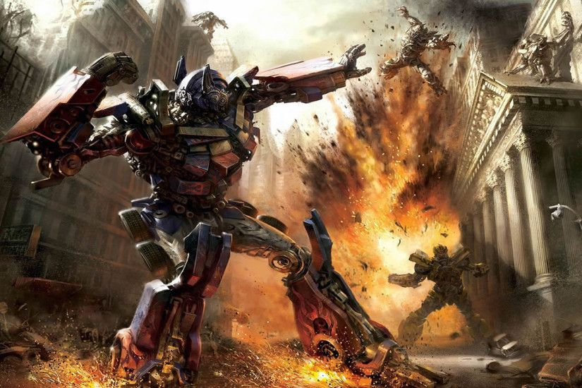 previous transformers wallpaper. Optimus Prime Fighting The Decepticons
