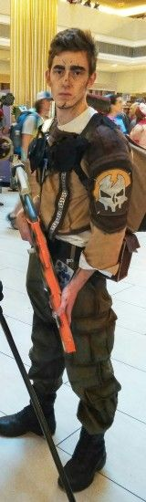 Axton cosplay (Borderlands 2). DragonCon 2017. I made the coat and shoulder