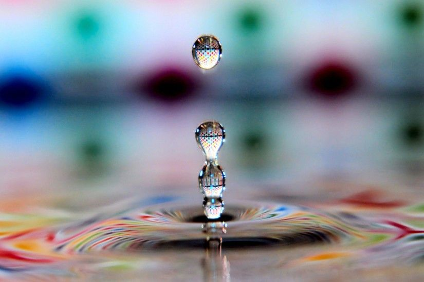 3d water drop free wallpaper download
